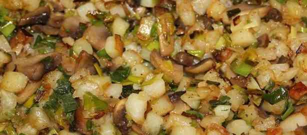 салат из грибов с картофелем