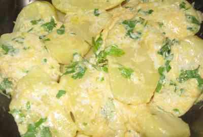 Рецепт картофель с молочным соусом