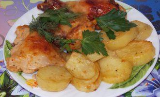 Курица с картошкой в пакете