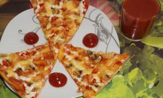 Пицца домашняя в духовке