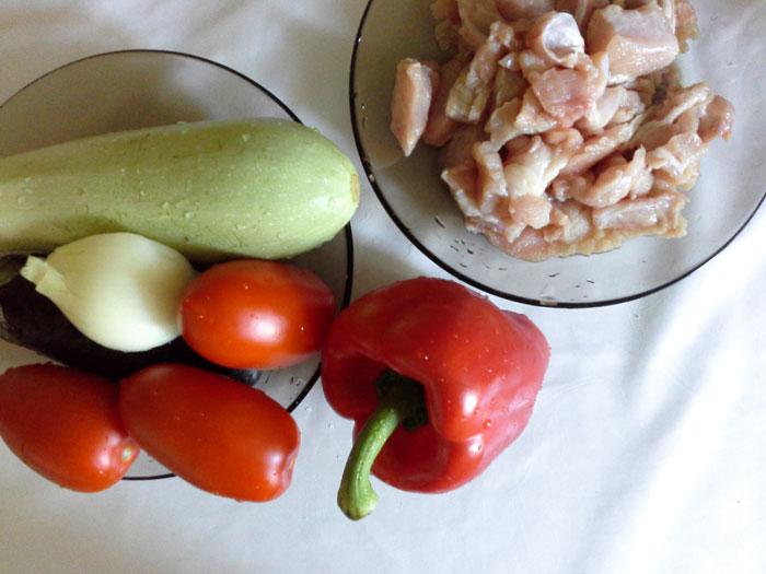 Ингредиенты для рататую