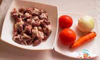 Ингредиенты для рагу с овощами