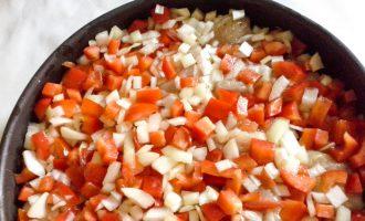 выложить овощи