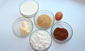Ингредиенты для влажного шоколадного пирога