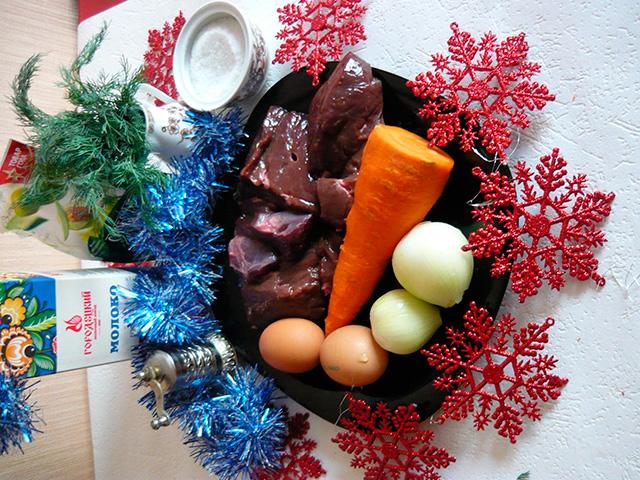 Ингредиенты для торта из печени
